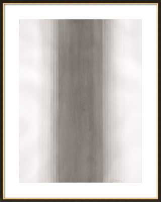 River by Emily Proud for Artfully Walls, 31.5x39.5, Black with Gold Wood FRAME - Artfully Walls