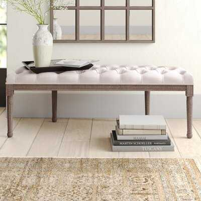 Alida Tufted Half Circle Upholstered Bench - Wayfair