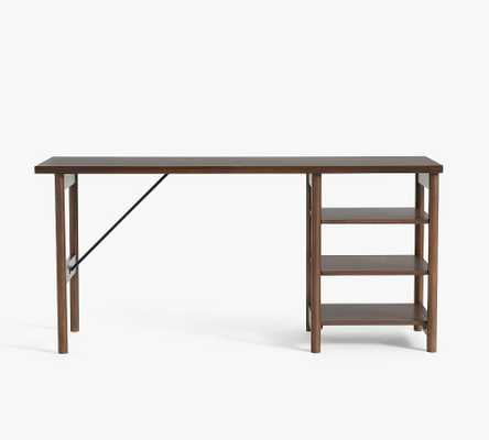 "Bloomquist 64"" Desk with Shelves, Warm Dusk - Pottery Barn"