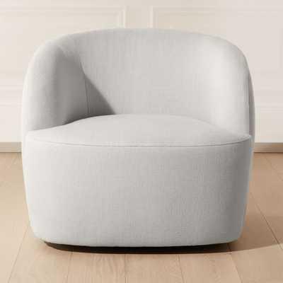 Gwyneth Grey Linen Chair - CB2