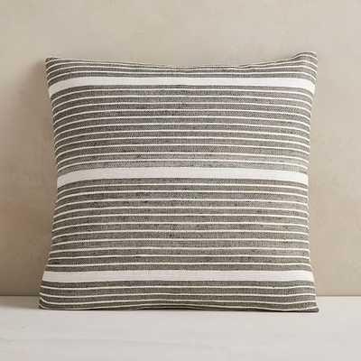 "Silk Mini Stripe Pillow Cover, 20""x20"", Dark Olive, Set of 2 - West Elm"