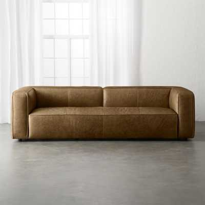Lenyx Saddle Leather Extra Large Sofa - CB2