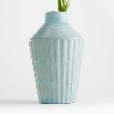 Izma Angled Seafoam Vase - Crate and Barrel