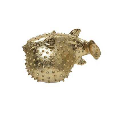 Nohemi Resin Gold Finish Puffer Fish - Wayfair