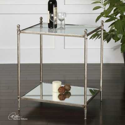 Gannon Mirrored Glass End Table - Hudsonhill Foundry