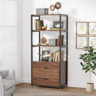 Open Bookcase With Drawers - Wayfair