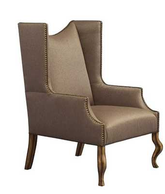 Leathercraft Linden Wingback Chair Upholstery: Elegance Black - Perigold