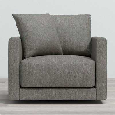 Gather Petite Swivel Chair,Icon, Metal - Crate and Barrel