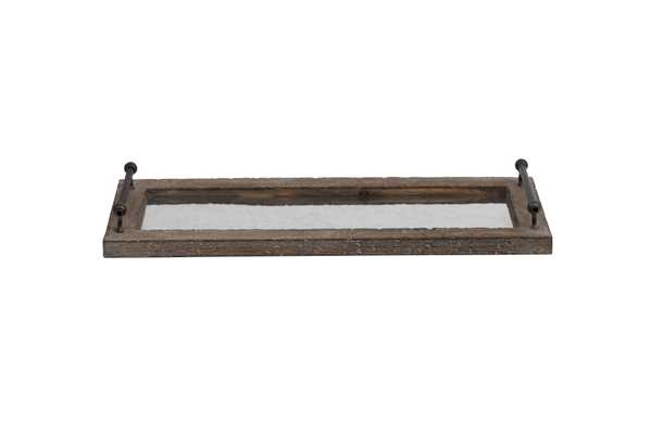 Decorative Wood & Metal Tray with Handles - Nomad Home