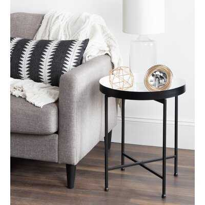 Marshfield Tray Top Cross Legs End Table - Wayfair