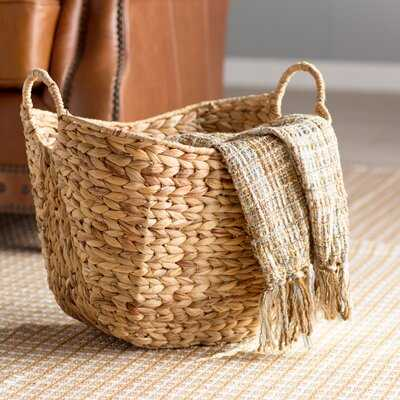 Tall Water Hyacinth Wicker Basket - Birch Lane