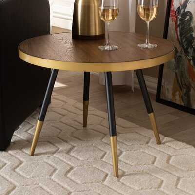 Conder Round Wood and Metal Coffee Table - Wayfair