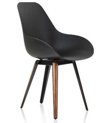 Kanisha Solid Wood Side Chair in Black - Wayfair