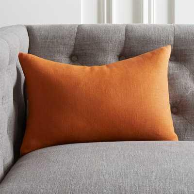 """18""""x12"""" Linon Copper Pillow with Down-Alternative Insert - CB2"""