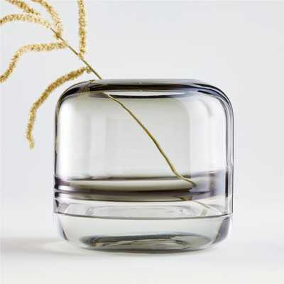Daydream Black Swirl Small Glass Vase - Crate and Barrel