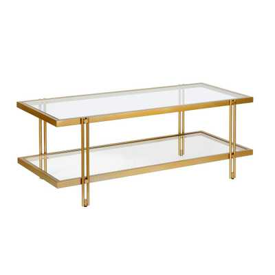 Hudson&Canal Inez Brass Coffee Table - Home Depot