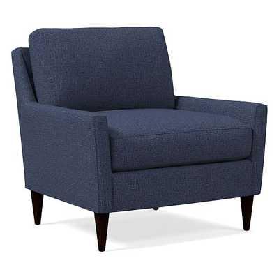 Everett Chair, Poly, Deco Weave, Night Sky, Chocolate - West Elm
