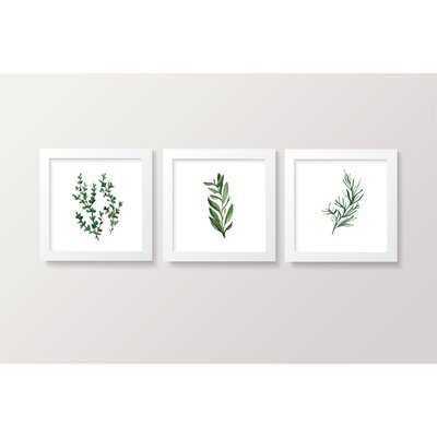 Goumikids 3 Piece Framed Decor Baby Nursery Bedroom Wall Art Set, Botanical - Wayfair