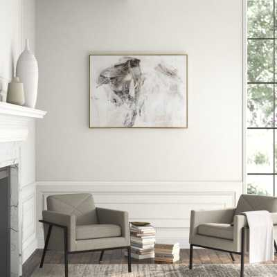 """Carlyle Fine Art Smoke I by Jordan Carlyle - Floater Frame Graphic Art Print on Canvas Format: Silver Framed, Size: 36"""" H x 48"""" W x 1.75"""" D - Perigold"""