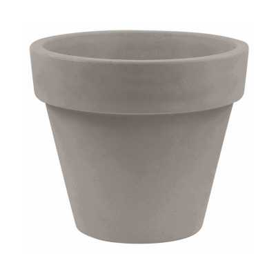 "Vondom Maceta Resin Pot Planter Color: Taupe, Size: 11.75"" H x 13.75"" W x 13.75"" D - Perigold"