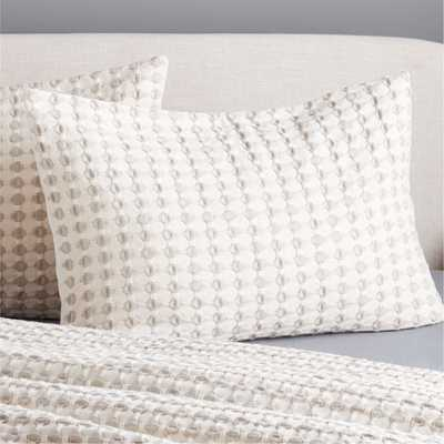 Estela Grey and White Standard Shams Set of 2 - CB2