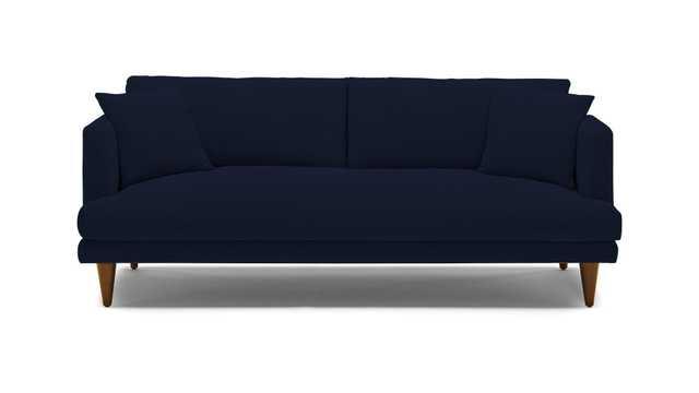 Blue Lewis Mid Century Modern Sofa - Bentley Indigo - Mocha - Cone - Joybird