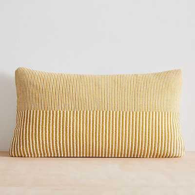 "Split Lines Pillow Cover, 14""x26"", Sand Yellow - West Elm"