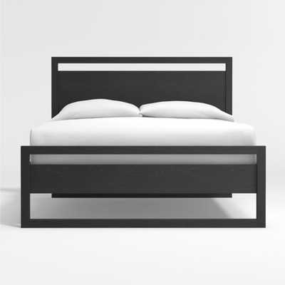 Linea Black Full Bed - Crate and Barrel