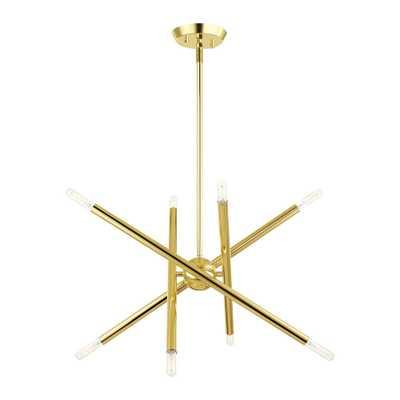 Livex Lighting Soho 8-Light Polished Brass Chandelier - Home Depot