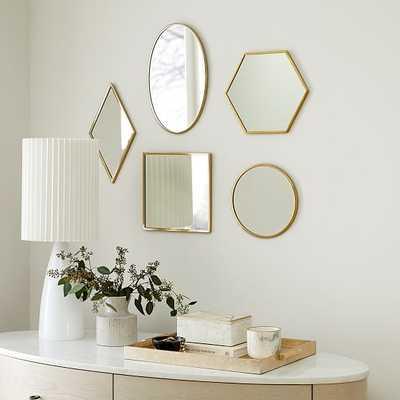 Zephyr Mirrors, Set of 5 - West Elm