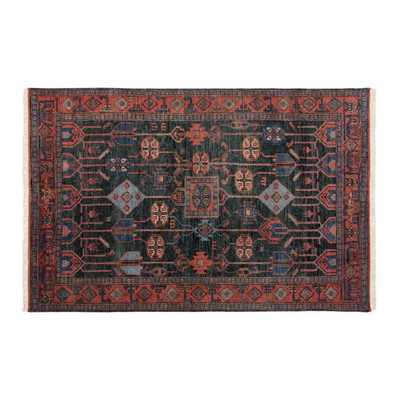 Eros Handknotted Red and Blue Rug 5'x8' - CB2