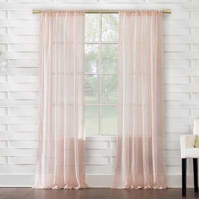 Brooker Solid Sheer Rod Pocket Single Curtain Panel - AllModern
