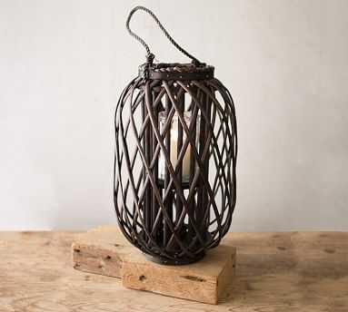 Willow Lanterns - Dark Brown, Medium - Pottery Barn