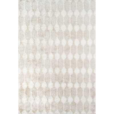"Novogratz Retro Geometric Handmade Tufted Taupe Area Rug Rug Size: Rectangle 7'6"" x 9'6"" - Perigold"