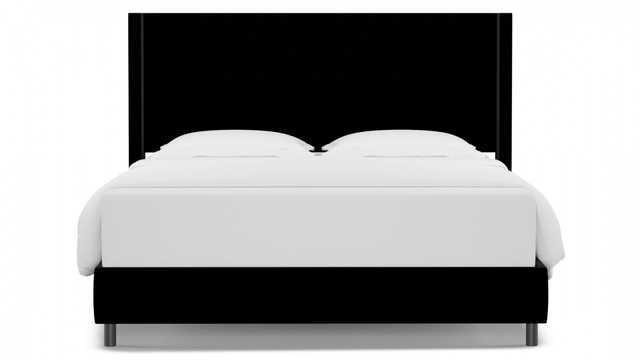 Modern Wingback Bed | King | Nero Velvet - The Inside