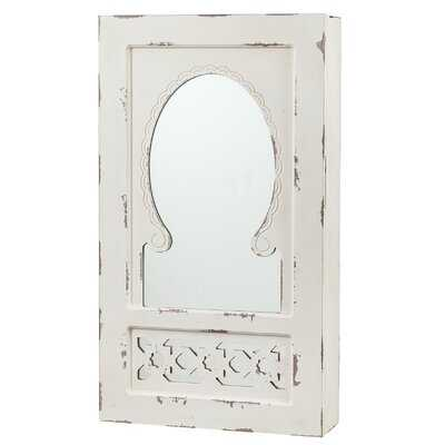 Jacques Shabby Elegance Wall Mounted Jewelry Armoire with Mirror - Birch Lane