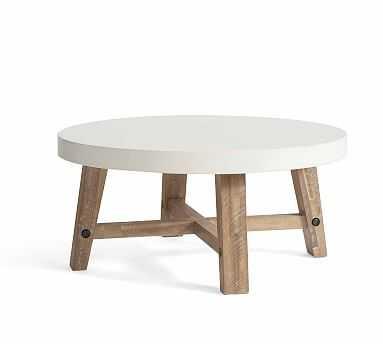 Capitola Concrete Round Coffee Table - Pottery Barn