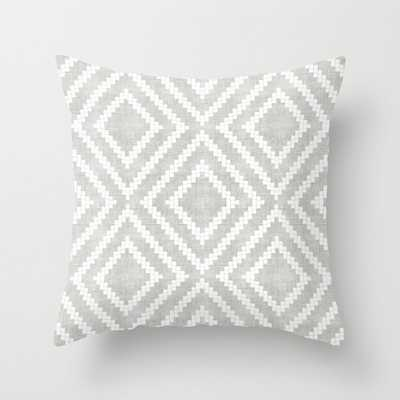 "Loom In Grey Couch Throw Pillow by Becky Bailey - Cover (18""x18"") with pillow insert - Outdoor Pillow - Society6"