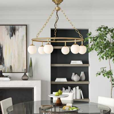 Noir 6 - Light Shaded Wagon Wheel Chandelier - Perigold