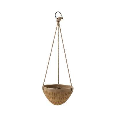 "Round Terracotta Hanging Planter Size: 6.25"" H x 10"" W x 10"" D - Perigold"