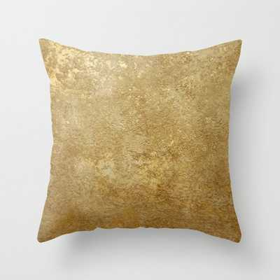 """Gold Rush Couch Throw Pillow by 83 Orangesa(r) Art Shop - Cover (24"""" x 24"""") with pillow insert - Indoor Pillow - Society6"""