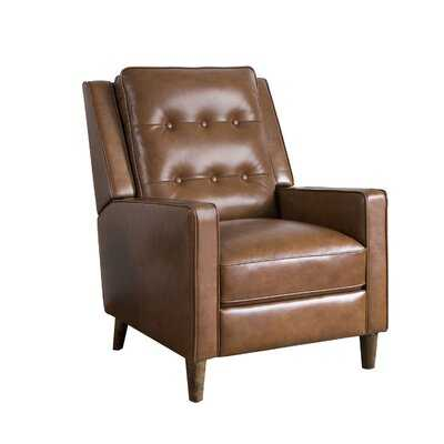Mary Genuine Leather Manual Recliner - Wayfair