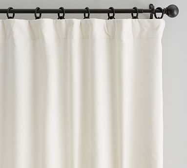 "Velvet Twill Curtain, 50 x 108"", Ivory - Pottery Barn"