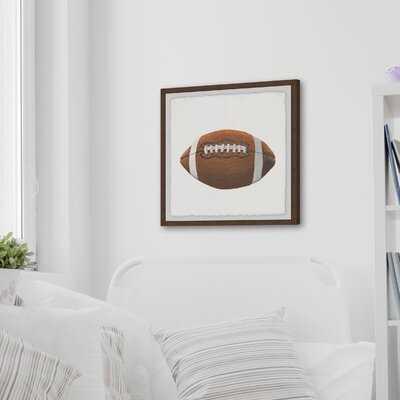 Collinsville 'Let's Play Football' Framed Art - Wayfair