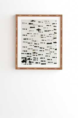 "Wabi Sabi 1601 by Iris Lehnhardt - Framed Wall Art Bamboo 19"" x 22.4"" - Wander Print Co."