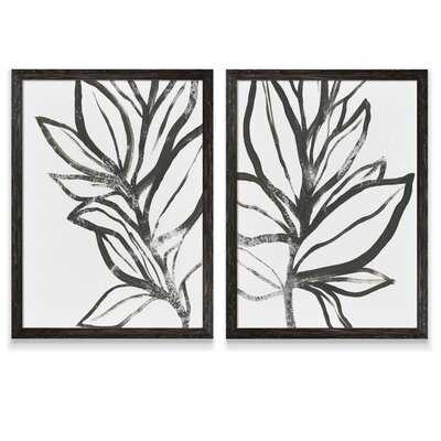 'Leaf Instinct I' by Vincent Van Gogh - 2 Piece Picture Frame Painting Print Set - Wayfair