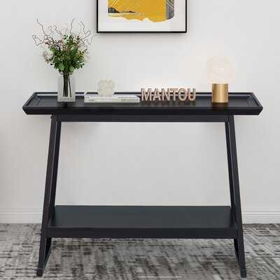 Black Console Table, 2 Tier Entryway Table - Wayfair