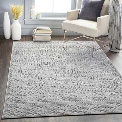 Absolon Southwestern Gray/Cream Indoor / Outdoor Area Rug - Wayfair