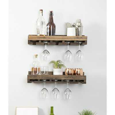 Bernardo Solid Wood Wall Mounted Wine Glass Rack - Birch Lane
