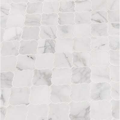 "Calacatta Cressa 3"" x 3"" Marble Mosaic Tile - Birch Lane"